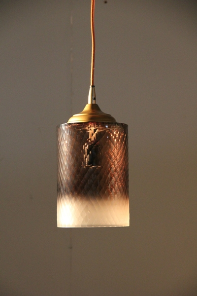 Lamp Hanging Cylinder Ombre L